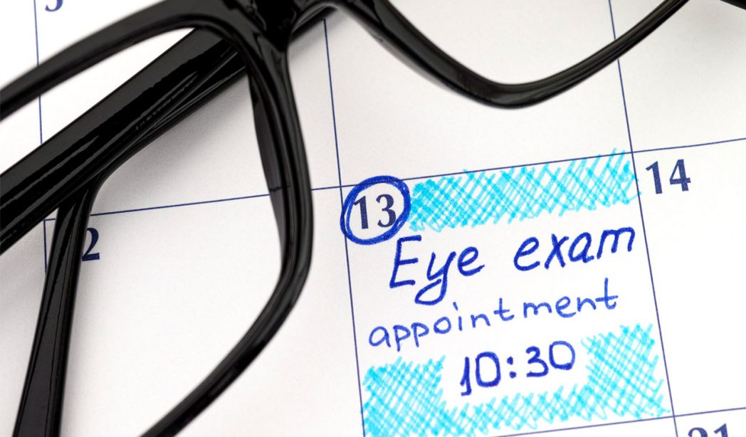 appointments for eye exams and contact lens exams